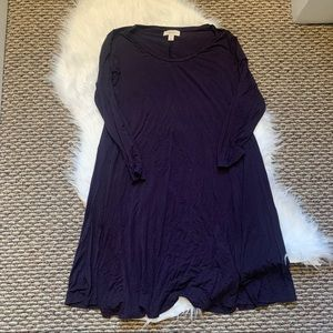 Style & Co Tshirt Dress Navy/Purple Size Small
